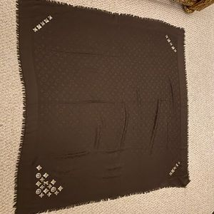 Louis Vuitton Monogrammed Scarf W/ Sequins Logo